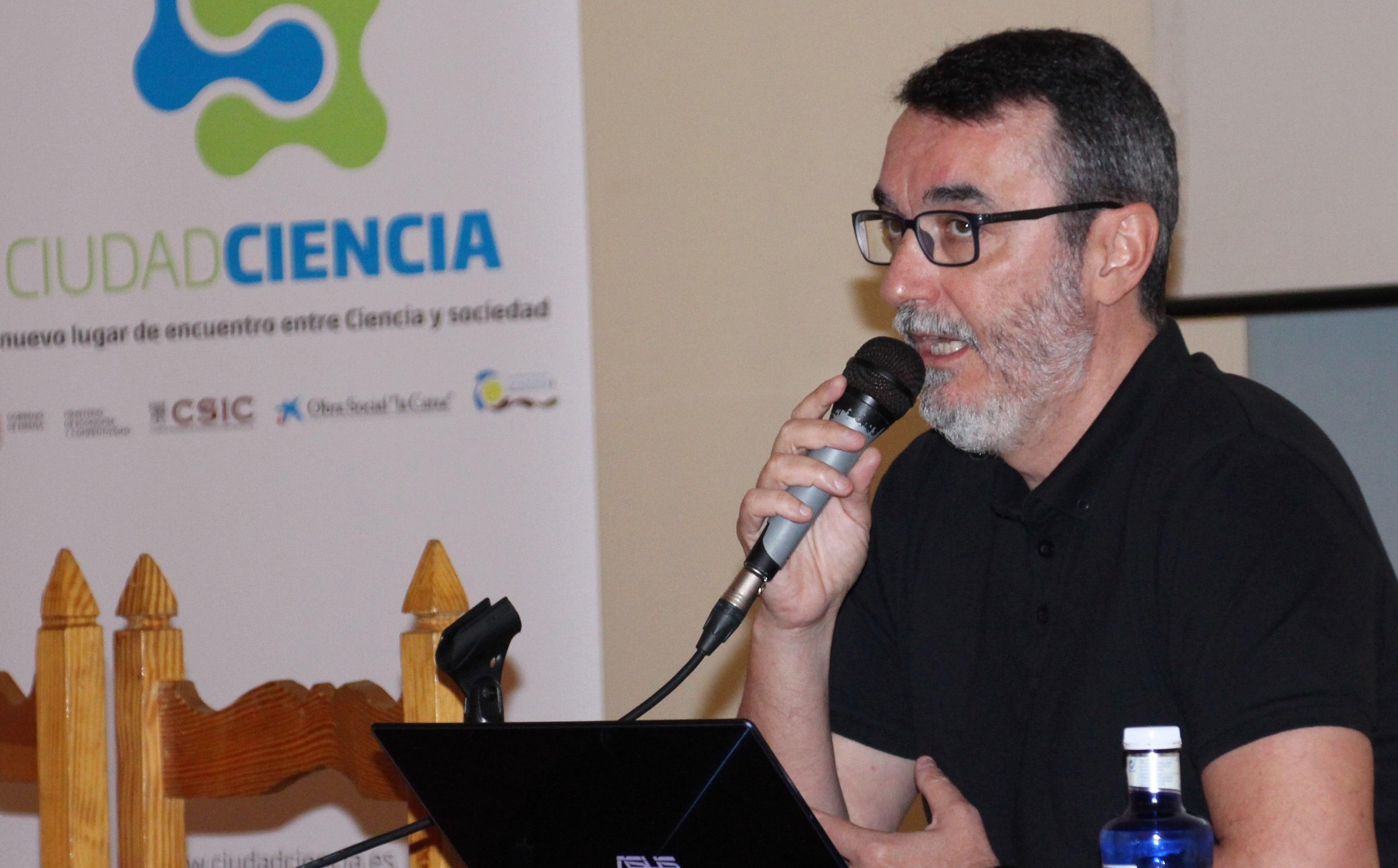 Juan Ángel Vaquerizo durante su charla