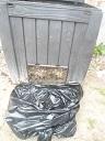 Recogiendo compost